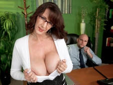 Fucking the biggest titted M.I.L.F. who's wearing glasses